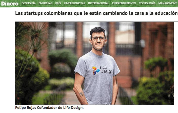Life Design en la Revista Dinero: Uno de los startups más innovadores